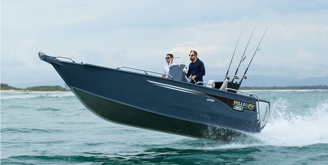 Yellowfin Plate Boat Rear Console available from Hastings Marine, Port Macquarie